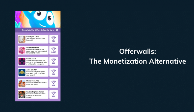 offerwalls monetization casual mobile games