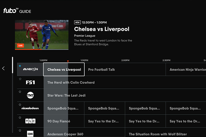 fuboTV interface