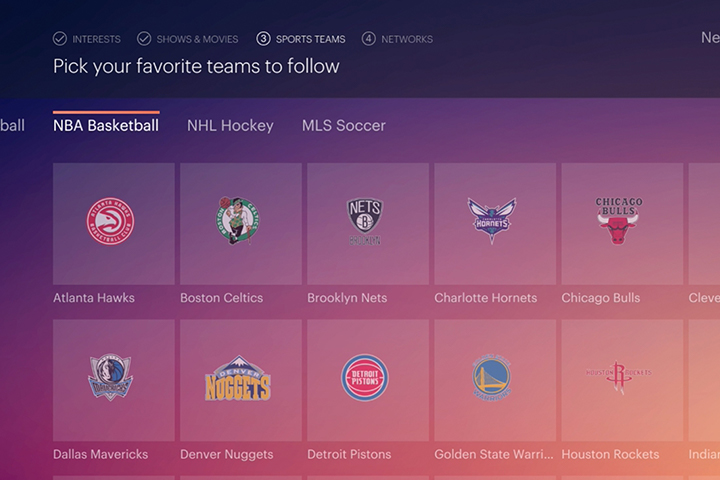 Sports channels on Hulu+ Live TV