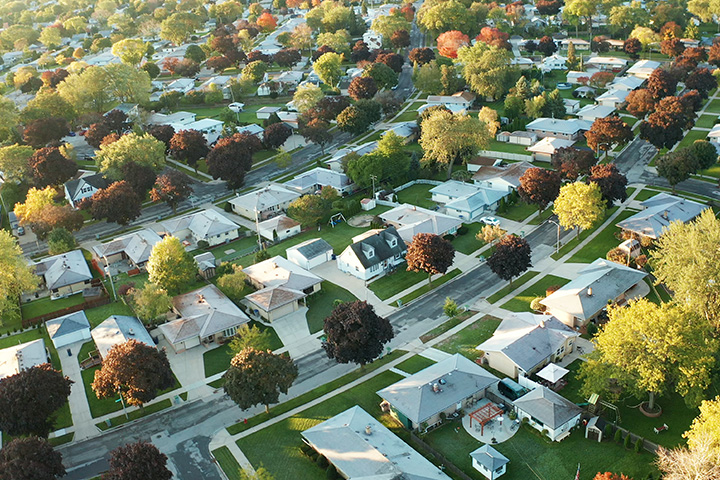 birds-eye-view-of-suburban-neighborhood