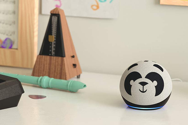Amazon Echo smart-home Kids Edition in the panda print