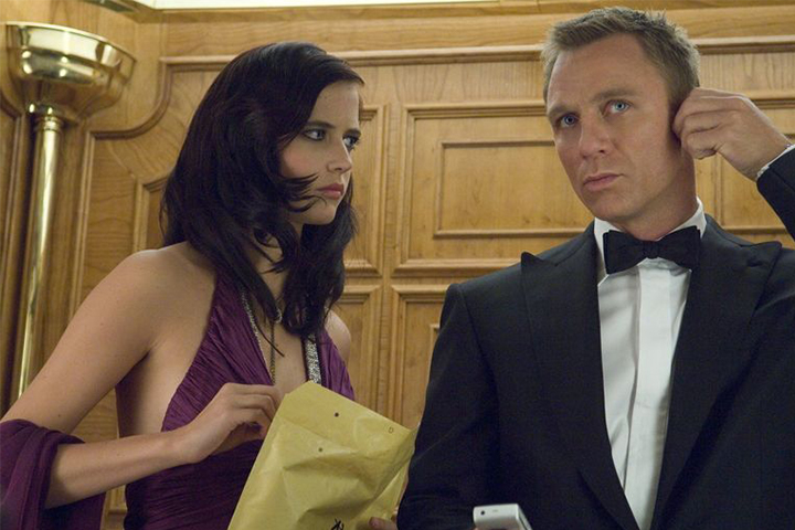 Eva Green and Daniel Craig in Casino Royale