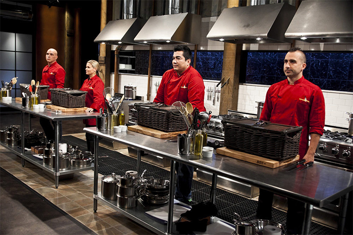 contestants competing on Chopped