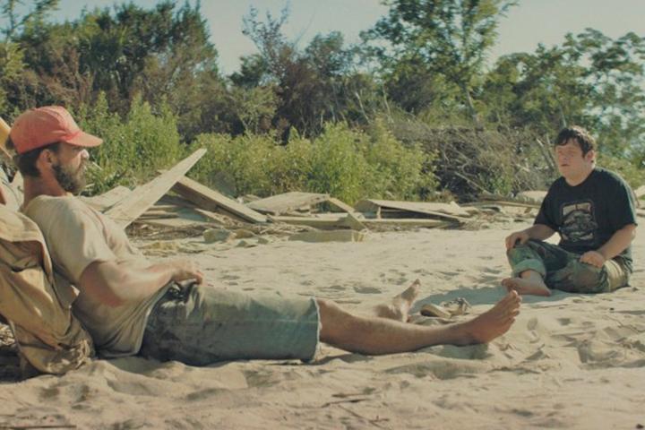 Shia LaBeouf and Zack Gottsagen in The Peanut Butter Falcon